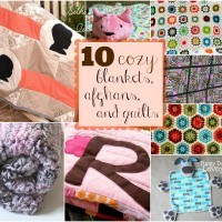 10 Cozy Blankets, Afghans and Quilts at Happy Hour Projects