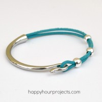 Easy Curved Clasp Leather Bracelet