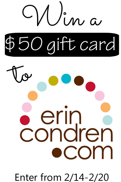 $50 Erin Condren Gift Card Giveaway at www.happyhourprojects.com