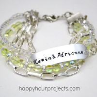 Handmade Wedding Gift Ideas: Stamped and Beaded Mixed Media Bracelet