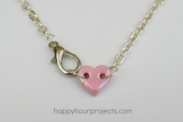 Simple Ceramic Heart Choker Necklace at www.happyhourprojects.com