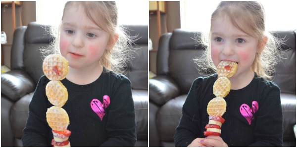 Getting Ready For Disney's FROZEN with Eggo Minis Snowman Waffle Kabobs at www.happyhourprojects.com #shop #FROZENFun