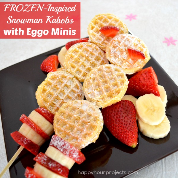 Getting Ready For Disney's FROZEN with Eggo Minis Snowman Fruit and Waffle Kabobs #FROZENFun