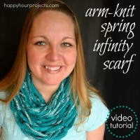 Arm Knit Spring infinity Scarf