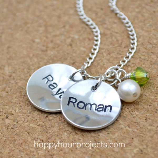 Classic Stamped Mommy Necklace: Video Tutorial at www.happyhourprojects.com