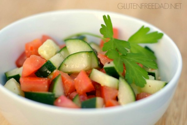 3-Ingredient Cucumber-Tomato Salad
