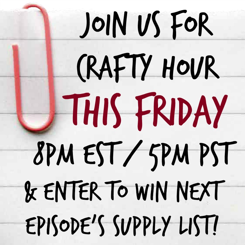 Join Us For Crafty Hour and Win Free Craft Supplies!