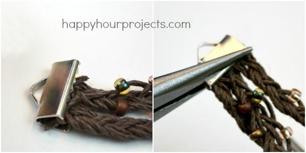 Bird Nest Stamped and Braided Hemp Bracelet at www.happyhourprojects.com