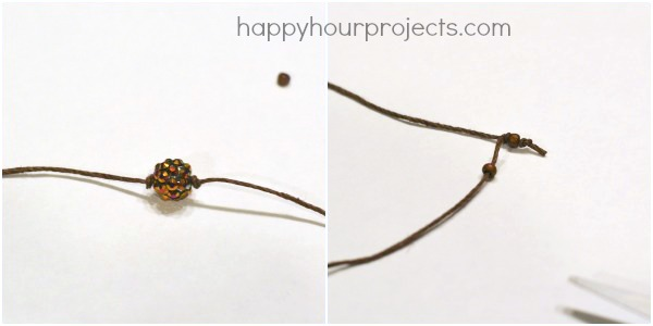 Macrame Slider Beaded Bracelet at www.happyhourprojects.com