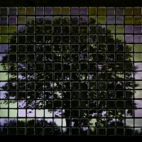 Tree at Dawn Tile Mosaic at www.happyhourprojects.com