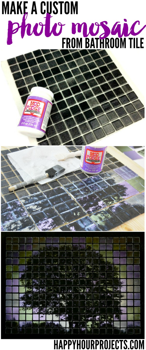 Make Your Own Custom Photo Mosaic with Adrianne Surian at www.happyhourprojects.com