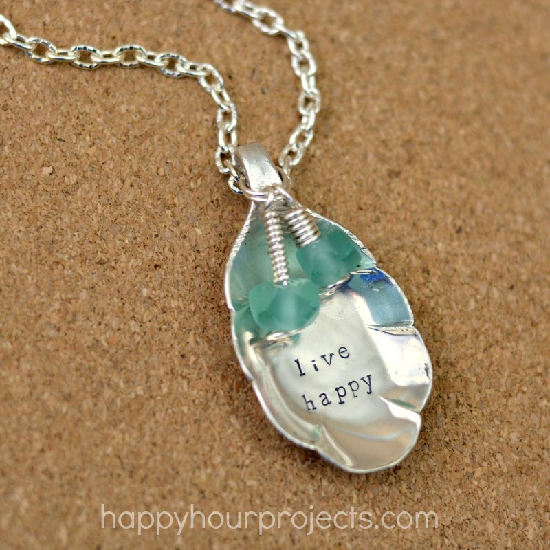 Upcycled Stamped Spoon Necklace