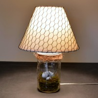 Bird Nest Mason Jar Lamp