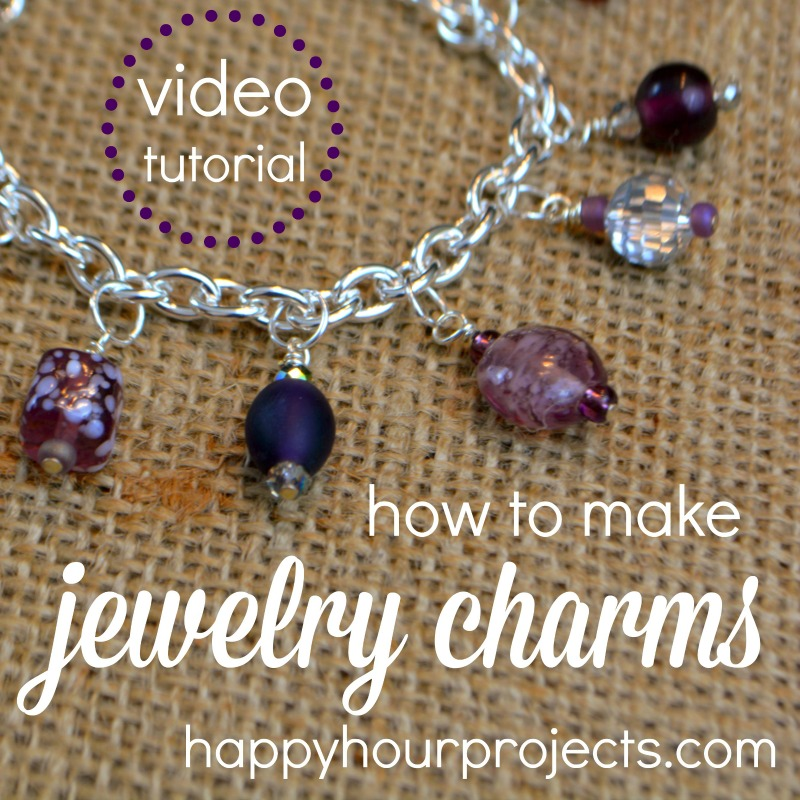 How to Make Jewelry Charms - Beginner's Video Tutorial at www.happyhourprojects.com