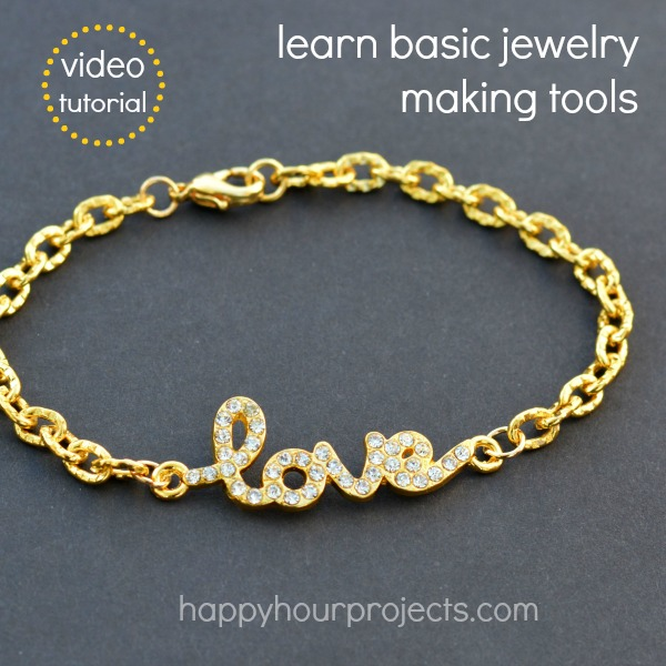 Learn Jewelry Making Basics: Connector Bracelet (10-minute video tutorial) at www.happyhourprojects.com