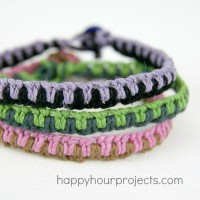 Macrame Friendship Bracelets and an Amazon Giveaway