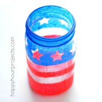 Patriotic Mason Jar Painted Luminary