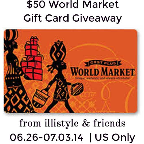 $50 World Market Giveaway at www.happyhourprojects.com | Open to US readers | Enter now through 7.3.14
