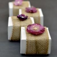 Burlap-Accent Gift Boxes