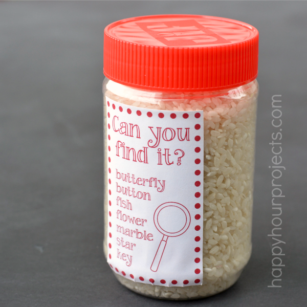 DIY Busy Jar - Search and Find Kids' Activity at www.happyhourprojects.com