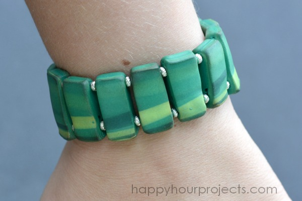 Marble Beaded Bracelet with Sculpey Souffle Clay