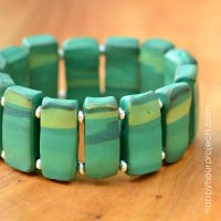 Marble Beaded Bracelet with Polyform Souffle Clay