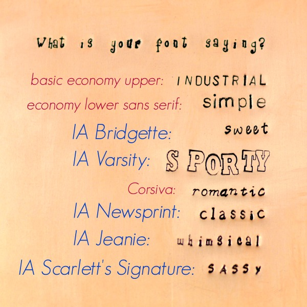 What Is Your Font Saying? An ImpressArt Metal Stamp Set GIVEAWAY at www.happyhourprojects.com