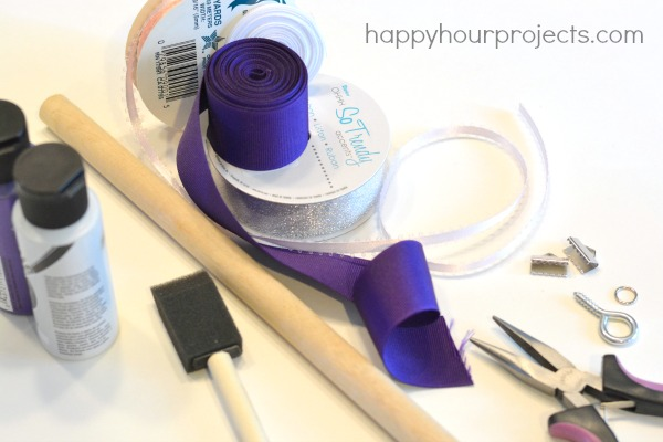 """Magic"" Ribbon Wand Tutorial at www.happyhourprojects.com"