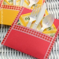 Cheap & Easy Washi Tape Picnic Silverware Pouch
