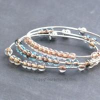 2-Minute Stacking Beaded Bangle Bracelet