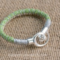 Spiral Clasp Wrapped Cord Bracelet