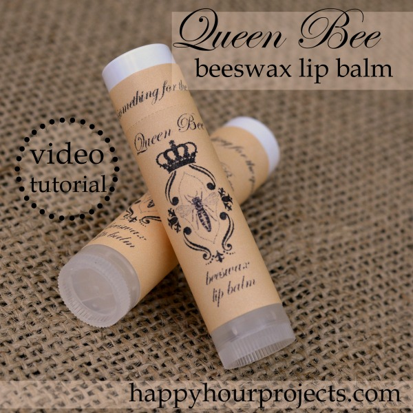 """""""Queen Bee"""" Homemade Beeswax Lip Balm Party Favors 