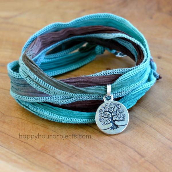 ultraeasy 2knot ribbon wrap bracelet happy hour projects