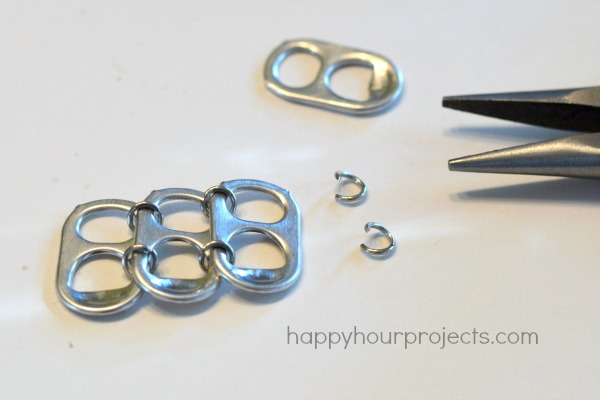 soda pop tab upcycled bracelet tutorial happy hour projects