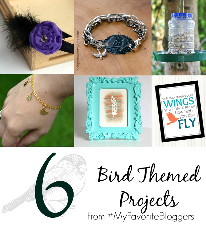 6 Beautiful Bird-Themed Projects at www.happyhourprojects,com