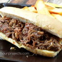 Slow Cooker Italian Beef at www.happyhourprojects.com