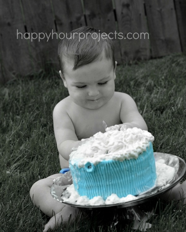 Cake Smash Photo Canvas at www.happyhourprojects.com