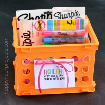 Back to School Sharpie Highlighter Teacher Gift