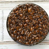 DIY Coffee Bean Resin Trivet at www.happyhourprojects.com