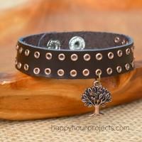 Leather Eyelet Bracelet
