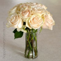 Easy Recycled/Repurposed Glass Bottle Vase at www.happyhourprojects.com