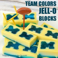 Tailgating Food: Team Color Jell-O Blocks!