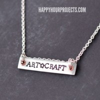 Art-Craft Stamped Bar Necklace at www.happyhourprojects.com