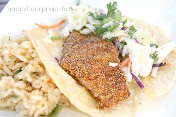 Baja Fish Tacos (Naturally Gluten Free) at www.happyhourprojects.com