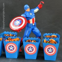 Captain America Movie Treat Boxes with M&M's Movie Mix #HeroesEatMMs