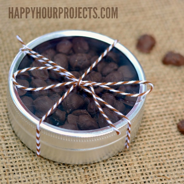 Chocolate Covered Coffee Beans at www.happyhourprojects.com #CoffeeBuzz