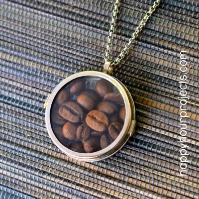 2-Minute Coffee Lover's Glass Locket Necklace