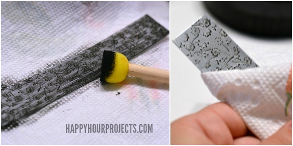Dandelion Stamped Cuff at www.happyhourprojects.com