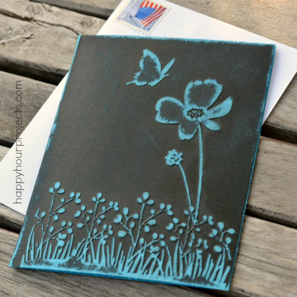 Easy Embossed Greeting Card at www.happyhourprojects.com