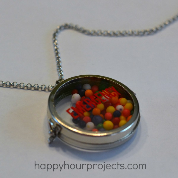 Emergency Sprinkles Necklace at www.happyhourprojects.com
